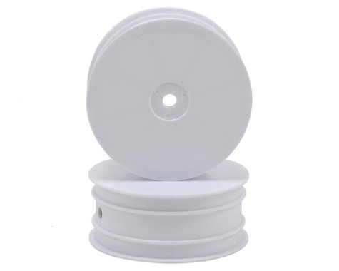 HB Racing 12mm Hex 1/10 4WD Buggy Front Wheels (2) (White) (D413)