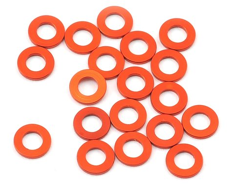 HB Racing 3x6x0.75mm Aluminum Washer (20)