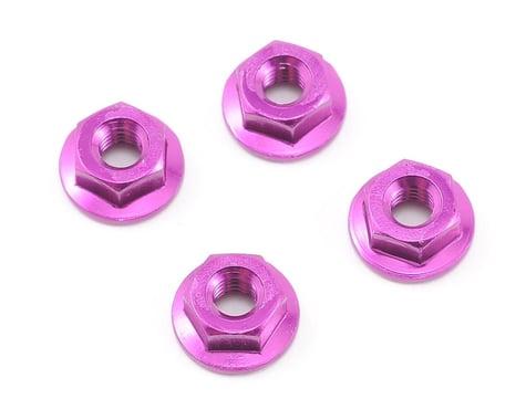 HB Racing Wheel Nut M4 Serrated Purple (4)