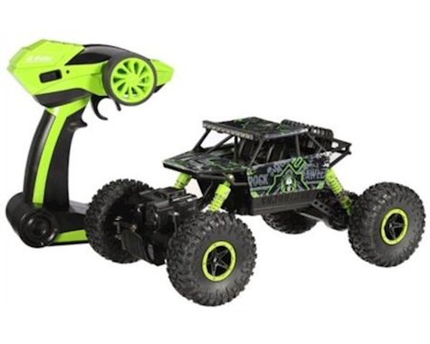 HK TEC 1:18 2.4GHz 4CH RC Car Rock Crawler 4WD Off-road Racing Truck. Toy grade. Green