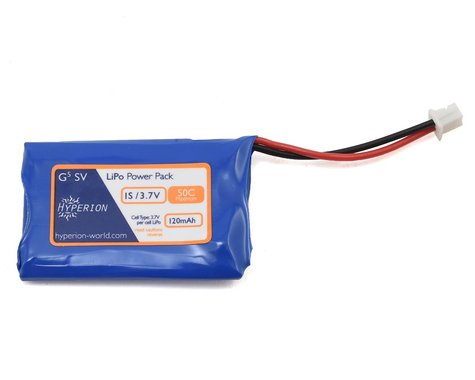 Hyperion G5 50C 1S LiPo Battery w/Ultra Micro Connector (3.7V/120mAh)
