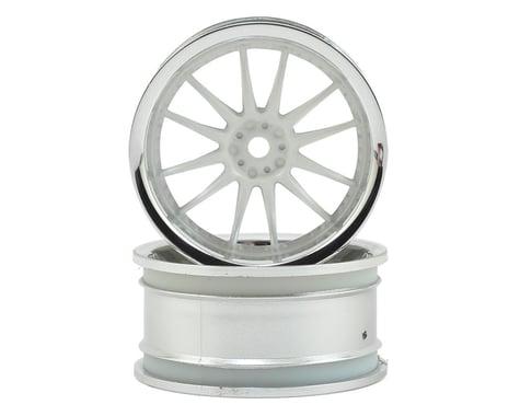 HPI 12mm Hex 26mm Work XSA 1/10 Wheel (White/Chrome) (2) (3mm Offset)