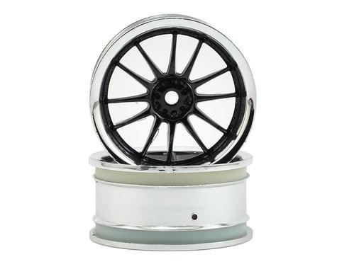 HPI 12mm Hex 26mm Work XSA 1/10 Wheel (Black Chrome) (2) (6mm Offset)