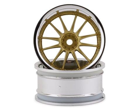 HPI Work XSA 02C 26mm Wheels w/12mm Hex (Chrome/Gold) (2)