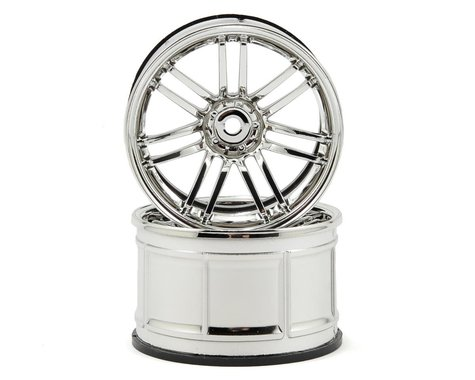 HPI 12mm Hex LP35 Rays VolkRacing RE30 Wheels (2) (9mm Offset) (Chrome)