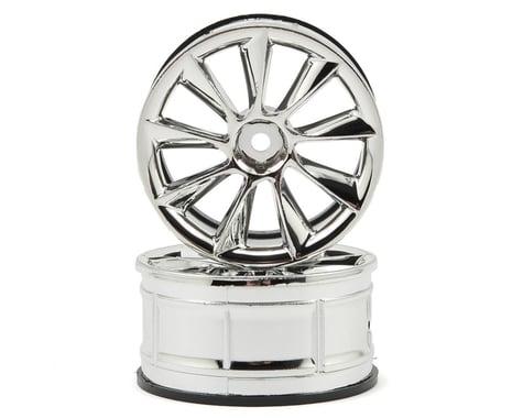 HPI 12mm Hex LP29 ATG RS8 Wheels (2) (3mm Offset) (Chrome)