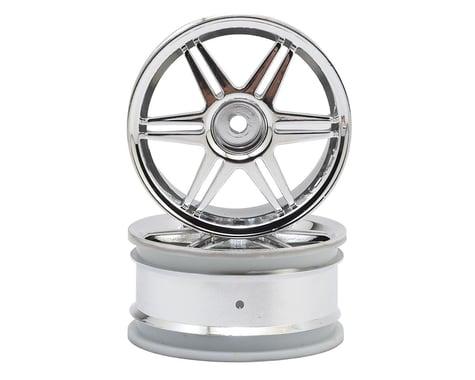 HPI 12mm Hex 26mm Corsa 1/10 TC Wheel (Chrome) (2)