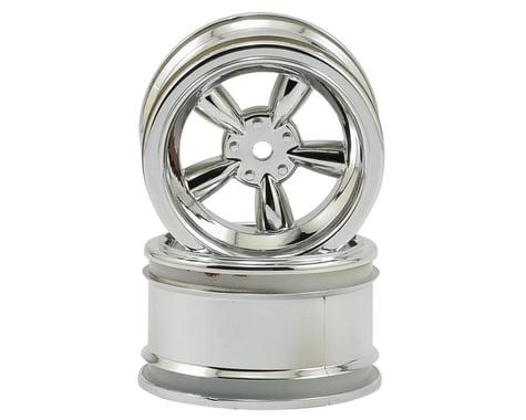 HPI 12mm Hex 31mm Vintage 5-Spoke Wheel (2) (6mm Offset) (Chrome)