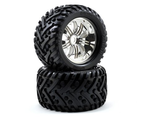 HPI Pre-Mounted Goliath Tire w/Tremor Wheel (2) (Chrome)