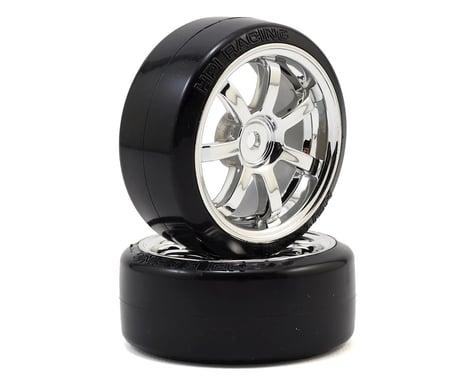 HPI 12mm Hex 26mm T-Drift Tire w/Rays 57S-Pro Wheel (Chrome) (2)