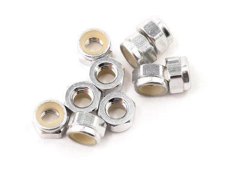 HPI 5mm Aluminum Locknut (Silver) (10)