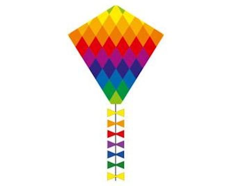 HQ Kites Eddy Rainbow Patchwork Kite