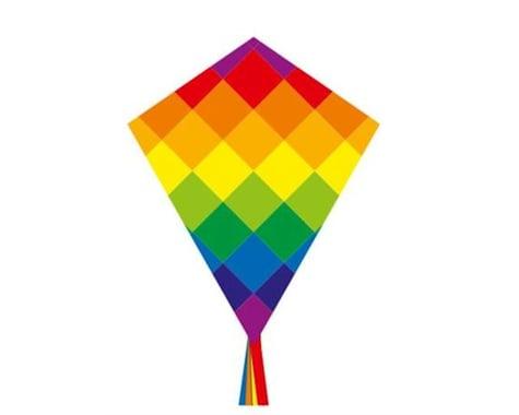 HQ Kites Eco Line Eddy Rainbow Patchwork Kite
