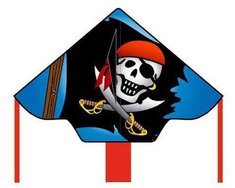 """HQ Kites Simple Flyer Jolly Rogers, 48"""""""