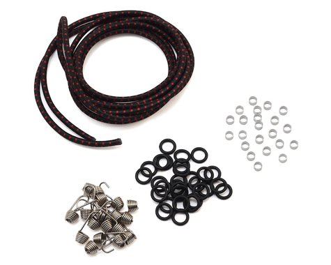 Hot Racing 1/10 Scale Bungee Cord Kit (Black/Red)