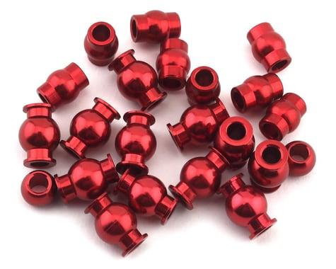 Hot Racing Arrma 4x4 Aluminum Pivot Ball Set (Red)
