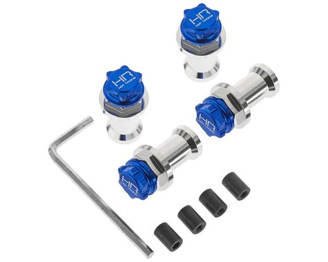 Hot Racing HD Blue 17mm Wheel Adapter w/Serrated Nuts