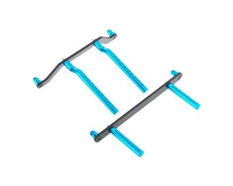 Hot Racing Aluminum/CF Body Mount Set Blue 1/10 Ruckus