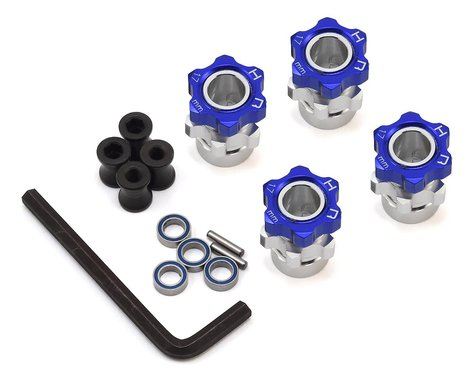 Hot Racing Traxxas Jato 17mm Hex Wheel Adapters w/8mm Extension (Blue) (4)