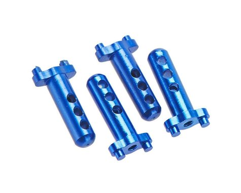 Hot Racing Aluminum Body Posts (4) Blue Losi Micro Crawle