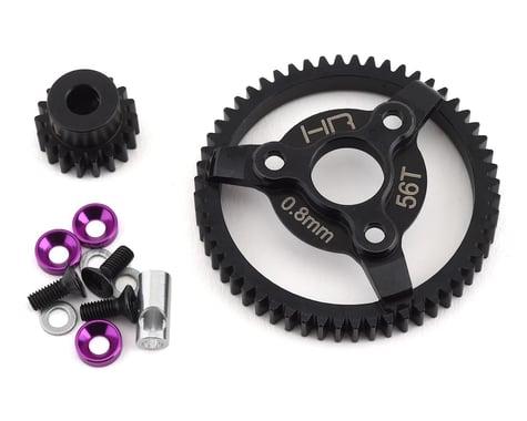 Hot Racing Traxxas 32P Steel Pinion & Spur Gear Set (Purple) (18T/56T)