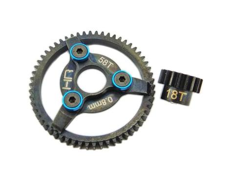 Hot Racing Brushless Steel Gear Kit 32P 18/58T .8m 3.22