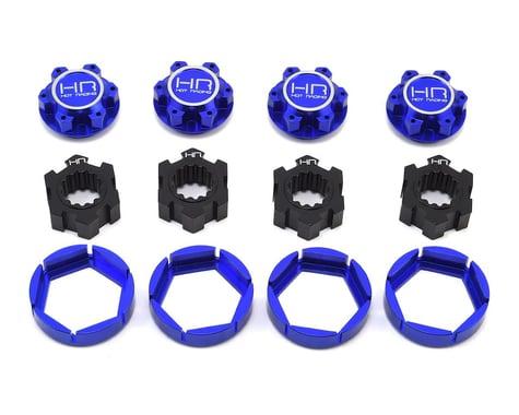 Hot Racing Traxxas X-Maxx Aluminum Locking 24mm Hex Hub Wheel Set (Blue)