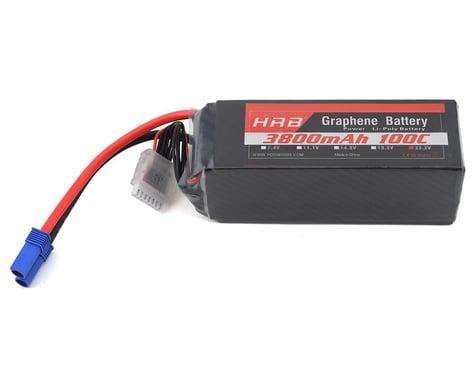HRB 6S 100C Graphene LiPo Battery (22.2V/3800mAh) w/EC5 Connector