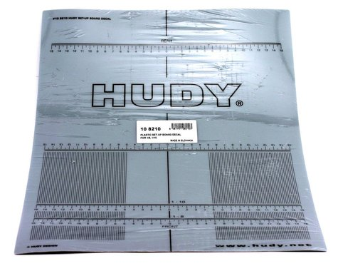 Hudy 1/8 & 1/10 On Road Plastic Set-Up Board Decal
