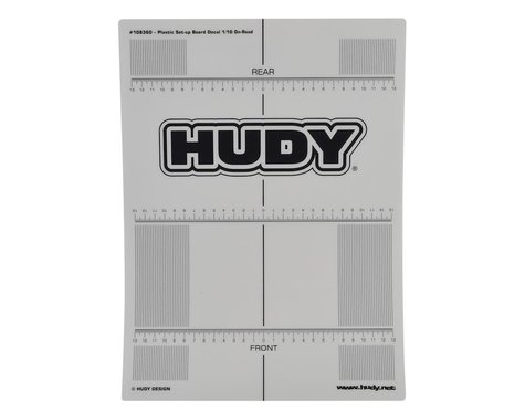 Hudy 1/10 Touring Car Plastic Touring Car Set-Up Board Decal