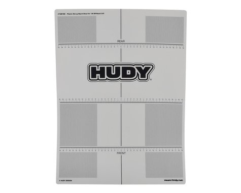 Hudy 1/8 Off-Road & GT Plastic Set-Up Board Decal