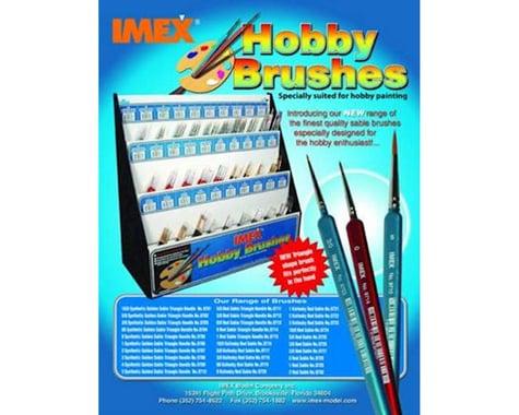 IMEX 3/0 Red Sable Brush, Round Handle