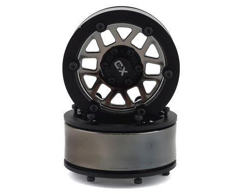 Incision KMC XD229 Machete 1.9 Plastic Beadlock Wheels (2) (Black Chrome)