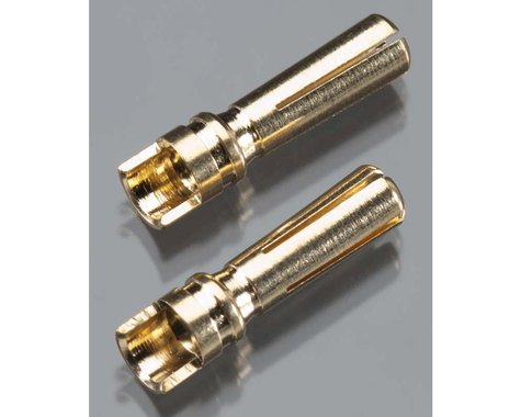 Gold Plated High Current Bullet Connector, 4mm (2)