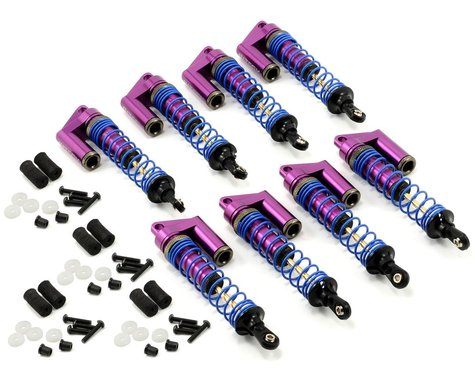 Team Integy MSR4 Shock Set w/Piggyback Reservoir (Purple) (8)
