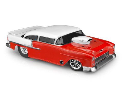 JConcepts 1955 Chevy Bel Air Street Eliminator Drag Racing Body (Clear)