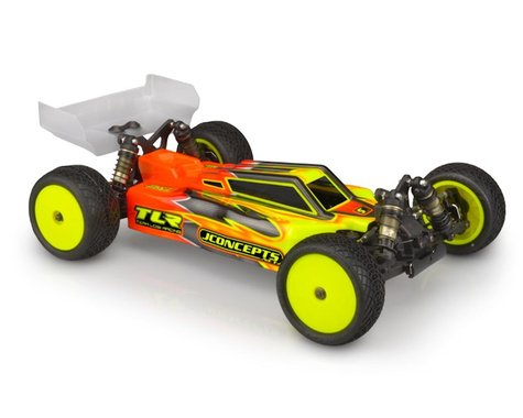 """JConcepts 22X-4 """"F2"""" 1/10 Buggy Body w/S-Type Wing (Clear)"""