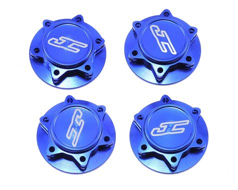 JConcepts Fin 17mm 1/8th Serrated Light Weight Wheel Nut (Blue) (4)