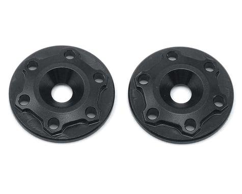 """JConcepts Aluminum B6/B6D """"Finnisher"""" Wing Buttons (Black) (2)"""