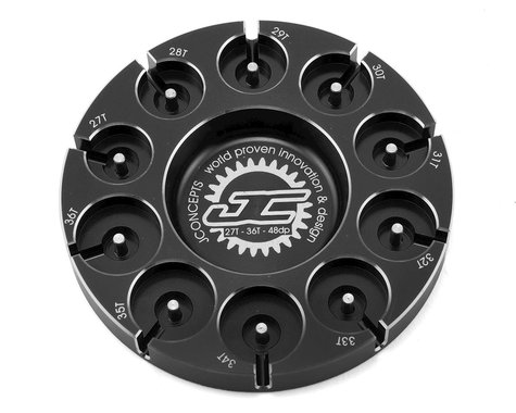 JConcepts Aluminum Pinion Puck Stock Range (Black)