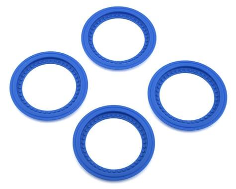JConcepts Tribute Monster Truck Wheel Mock Beadlock Rings (Blue) (4)