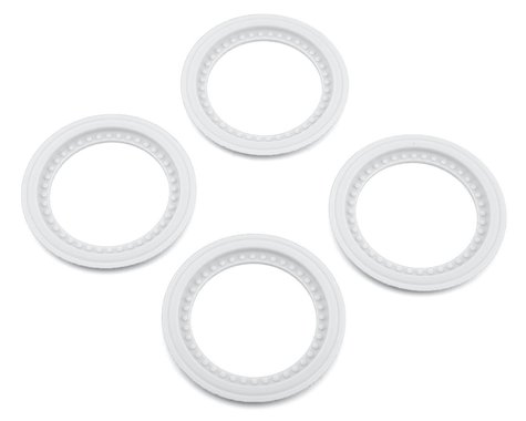 JConcepts Tribute Monster Truck Wheel Mock Beadlock Rings (White) (4)