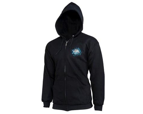 JConcepts Finish Line Zip-Up Hoodie Sweatshirt (Black) (L)