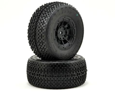 JConcepts Goose Bumps Pre-Mounted SC Tires (Hazard) +3mm Wheel (2) (SC5) (Green)