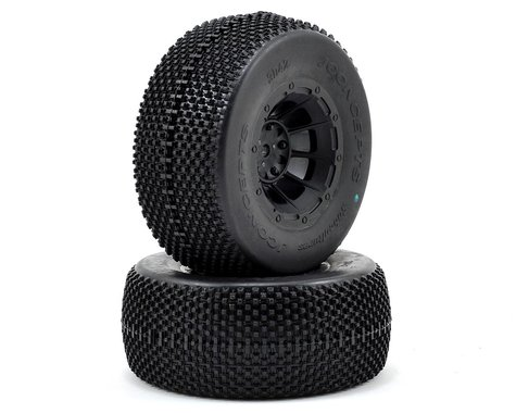 JConcepts Subcultures Pre-Mounted SC Tires w/Hazard Wheel (2) (Slash/Front) (Green)