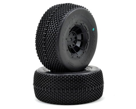 JConcepts Subcultures Pre-Mounted SC Tires (Hazard) (2) (Slash Rear) (Green)