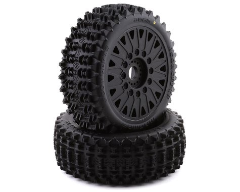 JConcepts Magma Pre-Mounted 1/8 Buggy Tires w/Cheetah Wheel (Black) (2) (Yellow)