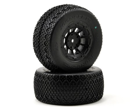 JConcepts 3D's Pre-Mounted SC Tires (Hazard) (2) (SC5M) (Green)