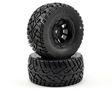 JConcepts G-Locs Pre-Mounted SC Tires (Hazard) (2) (Slash Front) (Yellow)