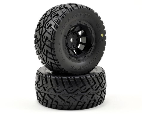 JConcepts G-Locs Pre-Mounted SC Tires (Hazard) (2) (Slash Rear) (Yellow)